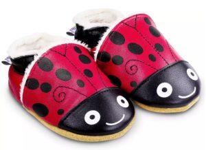 chausson anti-derapant bebe coccinelle